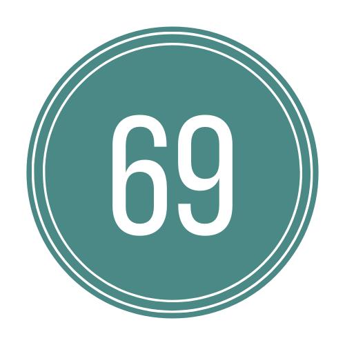 number 69 logo